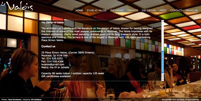 Restaurant Le Valois A Montreal